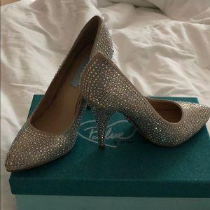 Betsey Johnson Blue, sequin heels size 8